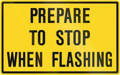 Prepare To Stop When Flashing in Canada - stock illustration