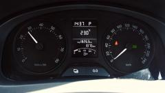 Car instrument panel, showing rpm and high speed acceleration - stock footage