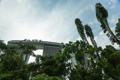 SINGAPORE - MAY 11: Marina Bay Sands Integrated Resort on May 11 - stock photo