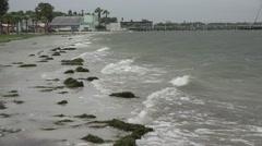 Waves Crashing On Rocky Gulfport Beach In Florida Stock Footage