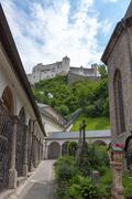 Castle Hohensalzburg, Salzburg, Austria - stock photo