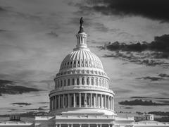 United States Capitol Thunderstorm Stock Photos