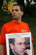 Politician Vladimir Milov to protest in support of Khodorkovsky - stock photo