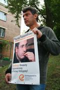 Politician Boris Nemtsov to protest in support of Khodorkovsky - stock photo