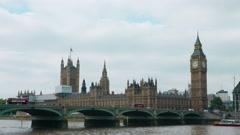 Stock Video Footage of Westminster bridge in London