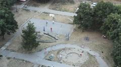 Old City Above Kids Playground Sport Kids  01 - stock footage