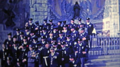 1969: French police blessed during ceremony at church. Stock Footage
