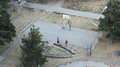 Old City Above Kids Playground Sport Kids  02 - stock footage