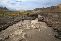 Rapid river - stock photo