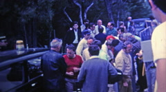 Stock Video Footage of 1969: Behind the scenes movie production footage of a French film.
