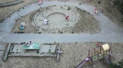 Old City Above Kids Playground Sport Kids  03 - stock footage