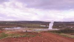 Geysir in Iceland Stock Footage