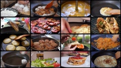 Montage Home Cooking Food Stock Footage