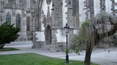 St. Elisabeth Cathedral, Kosice, Slovakia Stock Footage