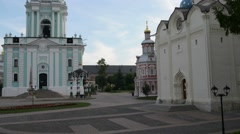 Five-tiered Lavra Bell Tower, built in the years 1741-1770 - stock footage