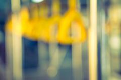 Abstract blur  Handles passenger inside a bus.  ( Filtered image processed vi Kuvituskuvat