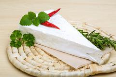 Soft brie cheese - stock photo