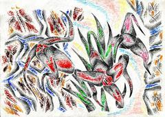 Stock Illustration of Abstraction drawing sketch art handmade
