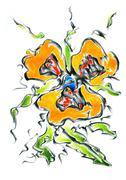 Stock Illustration of Flower drawing sketch art handmade