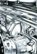 Stock Illustration of Railway wagon art drawing sketch illustration creativity
