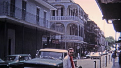 1971: Classic tourist spots around the French Quarter. Stock Footage