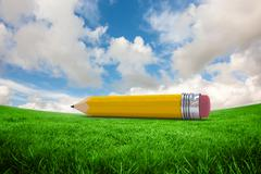 Composite image of pencil Stock Illustration
