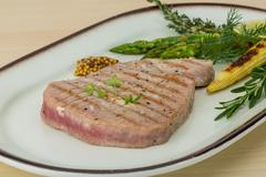 Grilled Tuna steak Stock Photos