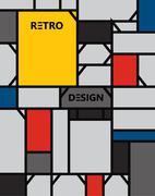 geometric abstract pattern de stijl art - stock illustration