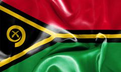 Vanuatu Flag Stock Illustration