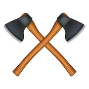 Stock Illustration of lumberjack axe
