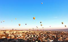 Hot air balloon in Cappadocia ,turkey Stock Photos