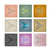 Set cursors of triangles,  illustration. Piirros