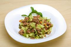 Tuna and celery salad - stock photo