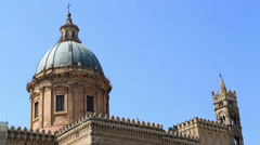 Cattedrale di Palermo 3 Stock Footage