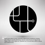 Ways of solution circle company symbol design Stock Illustration