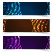 Abstract blue colorful website header or banner set vector Stock Illustration