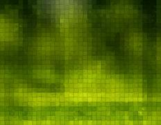 Green Background With cubes - stock illustration