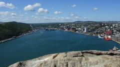 Scene of St. John's Newfoundland Stock Footage