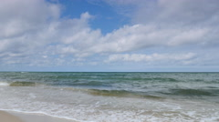 Clouds drifting over the Baltic sea - stock footage