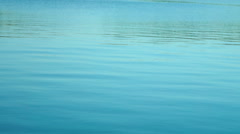 Turquoise  Lake With Waves Stock Footage