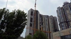 New Building Under Construction in Kiev, Ukraine. Stock Footage