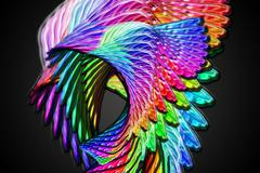 Abstract color design art - stock illustration