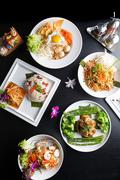 Stock Photo of Thai Food Plates