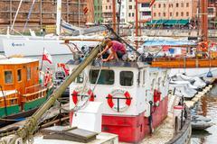 Gdansk. Shipping port - stock photo