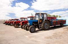 Tractors territory plant Stock Photos
