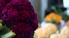 Cauliflower defocus Stock Footage
