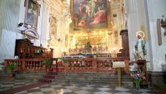 Church of Santa Ninfa dei Crociferi  3 Stock Footage