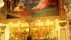 Church of Santa Ninfa dei Crociferi 4 Stock Footage