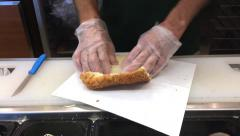 Sandwich made at local sub shop Stock Footage