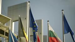 Flag of European Union Stock Footage